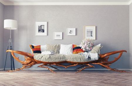 eccentric: Rhino - beetle sofa concept.3d design idea
