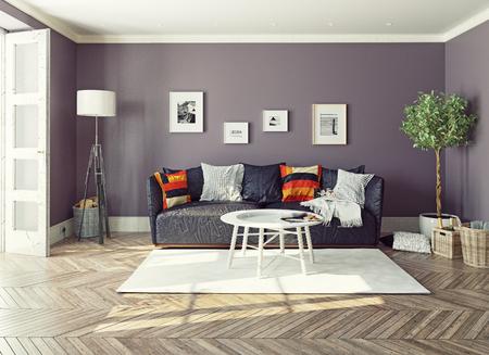 Moderne interior.3d Design-Konzept Standard-Bild - 48937971