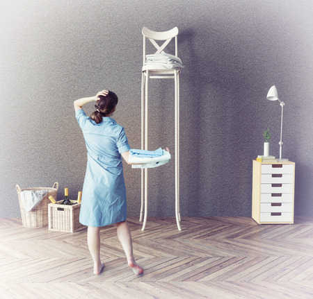 unavailability: long chair  in the room. 3d concept