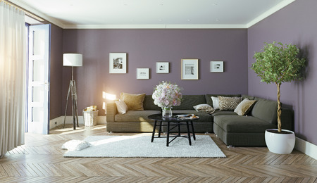 Interior.3d moderno concetto di design Archivio Fotografico - 52654397