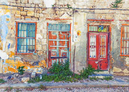 old doors: Photo of the old town  house, Rhodes island, Greece