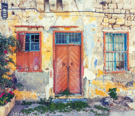 old town house: Photo of the old town  house, Rhodes island, Greece