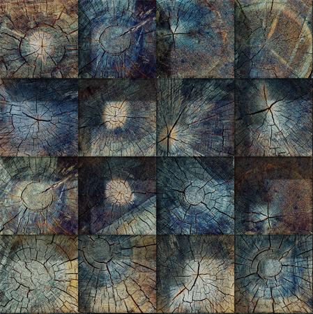 Old  crack wood texture blocks background