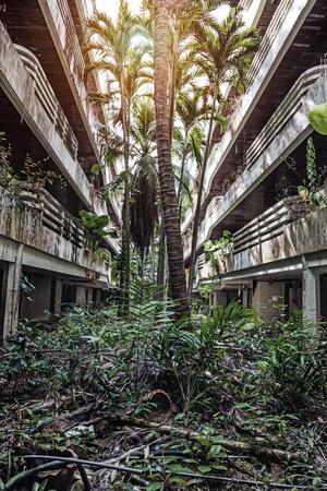 Hotel building after the 2004 tsunami. Phuket. Thailand