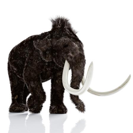 De mammoet geïsoleerd. 3D-rendering Stockfoto