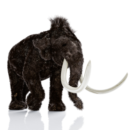 Der Mammut isoliert . 3D-Rendering Standard-Bild - 80700429