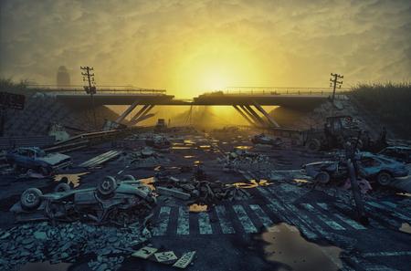 apocalyptisch 3d landschap