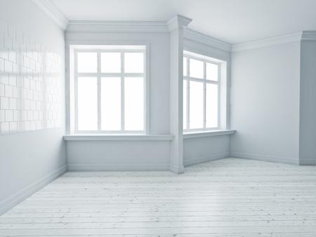 The Modern empty interior rooms. 3d rendering