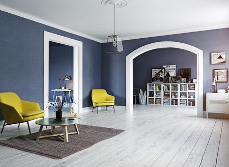L & # 39 ; intérieur moderne. style design scandinave . 3d render concept Banque d'images - 88764930