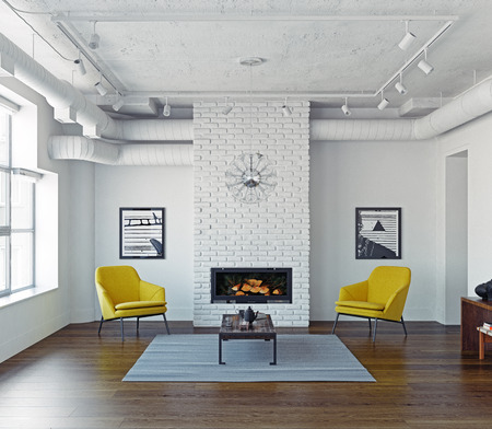 Modern living room interior. 3d rendering. concept