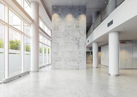 nowoczesna architektura hali biznesowej. Koncepcja 3D Zdjęcie Seryjne