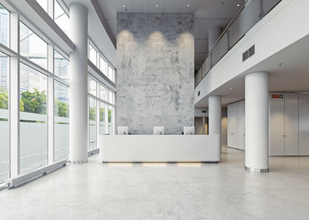 modern business hall architecture. 3d concept Stock Photo - 92149600