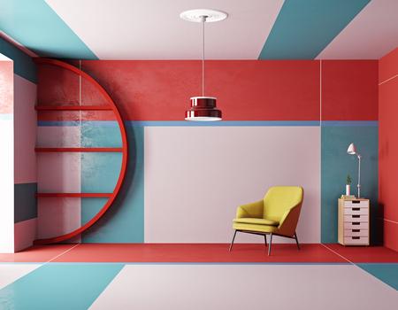 modern design room style. 3d rendering
