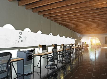 modern kantoorinterieur. 3D-rendering concept Stockfoto
