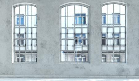 moderne lege loft interieur. 3D-rendering concept. Stockfoto