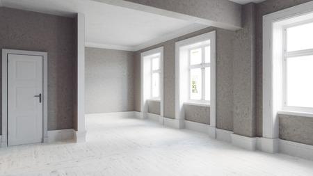 modern leeg interieur. 3D illustratie concept Stockfoto