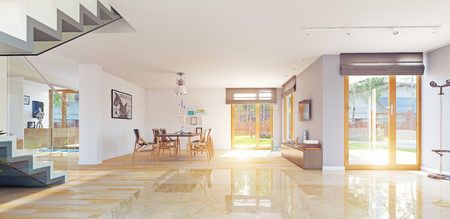modern home interior. 3d rendering concept