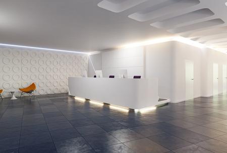 conception de réception moderne. Concept de rendu 3D