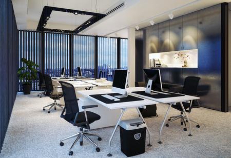 modernes Büro Interieur. 3D-Rendering-Konzept Standard-Bild