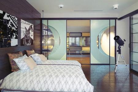 modern bedroom interior. 3d rendering design concept. Foto de archivo