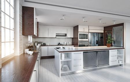 Modern  kitchen interior. Stock fotó