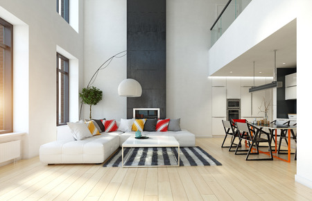 Modern apartment interior.