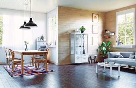 The modern home interior in country style.