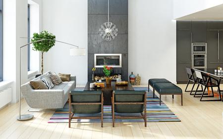 Diseño de interiores moderno.