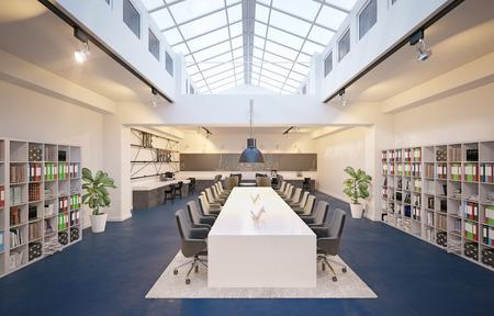 modern conference meeting room design. 3d rendering concept Reklamní fotografie