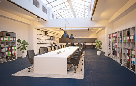 modern conference meeting room design. 3d rendering concept 写真素材