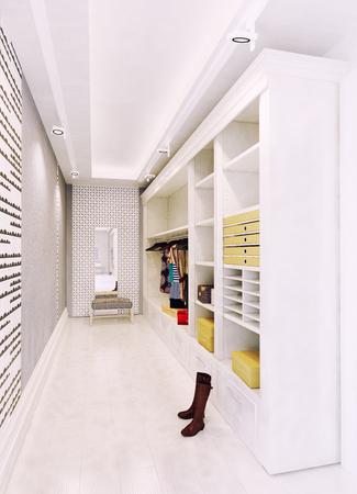 modern wardrobe interior. 3d rendering concept