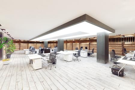 modern  office interior. 3d rendering design concept Archivio Fotografico - 114223129