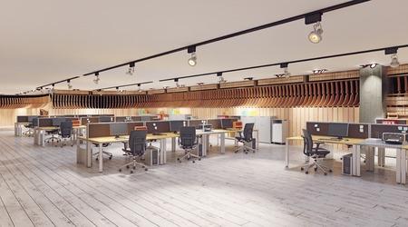 modern  office interior. 3d rendering design concept