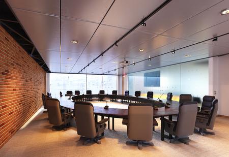 Modern meeting room design concept. 3d rendering