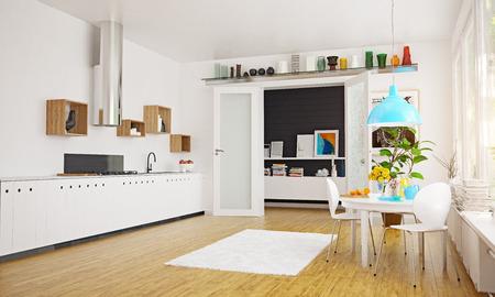 Modern Scandinavian style living room interior design. Standard-Bild - 118854798