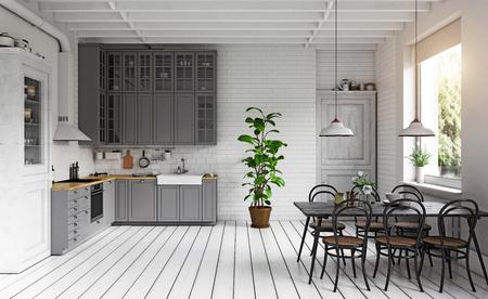 Modern kitchen interior. Standard-Bild - 118854882