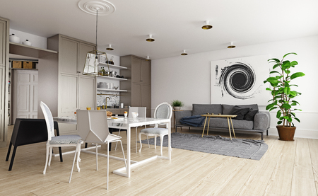 Interior de la casa moderna.