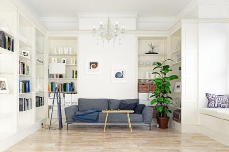 Modern living room. 版權商用圖片