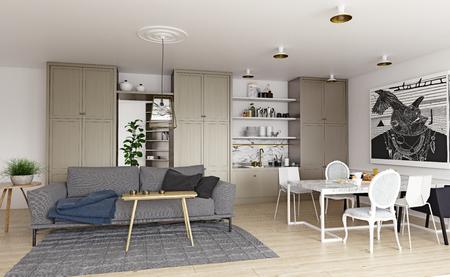 Modern house interior. Standard-Bild - 118854888