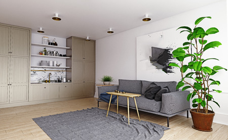 Modern house interior. Stock Photo