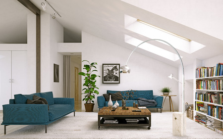 Modern living room. Banque d'images