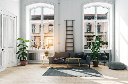 Modern scandinavian style interior design.