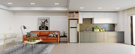 Modern studio interior.