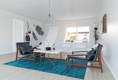 Bizarre interior. 3d rendering creative concept idea