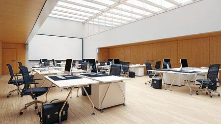 Modern office interior design concept. 3d rendering design Imagens