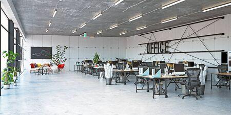 modern office interior, 3d rendering business concept design