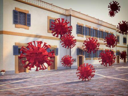 Virus  COVID -19 attack concept. Standard-Bild