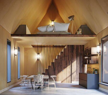 Modern home interior of small living Standard-Bild