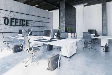 contemporary office interior. 3d rendering design concept