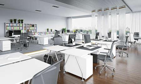 modern office interior design concept. 3d rendering idea Imagens